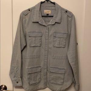 Universal Thread striped utility jacket